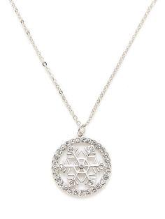 Pat Snowflake Pendant Necklace by Swarovski Jewelry at Gilt