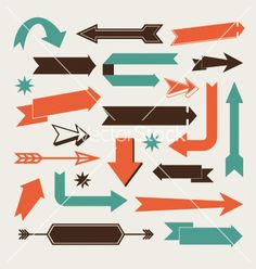 Set of arrows vector by thecorner on VectorStock®