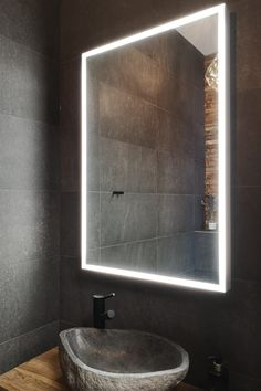 Grand Lux valopeili tuo ympärilleen lisävaloa. Kuvassa Tuusulan Asuntomessukohde. #grandlux #peili #valopeili #mittatilaus #asuntomessut #moderni #kylpyhuone #wc #helatukku Bathroom, Decor, Lighted Bathroom Mirror, Furniture, Light, Mirror, Bathroom Lighting, Bathroom Mirror, Home Decor