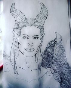 Been working on a few commissions lately.... #art #drawing #disney #malificent #artist #sketchbook