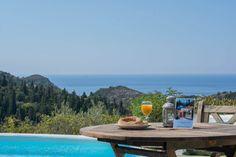 Breakfast by the pool! Island Life, Islands, Greece, Villa, Breakfast, Greece Country, Morning Coffee, Fork, Villas