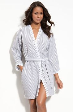 Eileen West 'Sweet As Peaches' Seersucker Robe | Nordstrom
