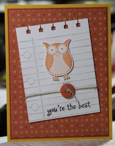 Youre the best...  Owl card