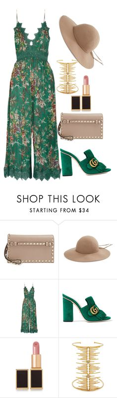 """Green Floetry"" by stylistinme ❤ liked on Polyvore featuring Valentino, Kathy Jeanne, Zimmermann, Gucci, Tom Ford and Joanna Laura Constantine"