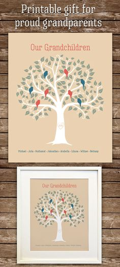 Your place to buy and sell all things handmade Family Tree Print, Family Trees, Personalised Family Tree, Grandfather Gifts, Thoughtful Christmas Gifts, Grand Kids, Grandparent Gifts, Family Gifts, As You Like