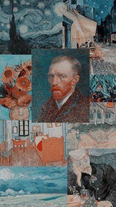 Van Gogh Wallpaper, Wallpaper Pastel, Wallpaper Images Hd, Aesthetic Pastel Wallpaper, Tumblr Wallpaper, Aesthetic Wallpapers, Wallpaper Backgrounds, Galaxy Wallpaper, Mobile Wallpaper