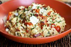 Hora do almoço >> Risoto com espinafre, bacon e queijo  http://montacasa.gudecor.com.br/blog/receita-de-risoto/  #receita #sabor