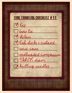 11th Doctor checklist