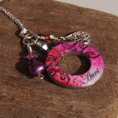 SOLD! $40 'Aunt' charm Unique Christmas gift! LAST DAY to get it :) my Etsy One of a kind handmade handpainted charm made from a washer