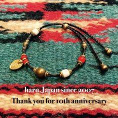 haru.Japan works  Ethiopia brass beadsWhite HeartsOrisa