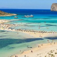 Balos, Crete, Greece Is this what heaven looks like? Beautiful Places To Travel, Beautiful Beaches, Wonderful Places, Bahamas Island, Crete Island, Mykonos, Santorini, Crete Beaches, Oh The Places You'll Go