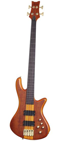 Amazon.com: Schecter Stiletto Studio-4 Fretless Electric Bass (4 String, Honey Satin): Musical Instruments