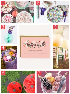 7 Ways To Create the Cutest Floral Ladybug Themed Baby Shower via @oubly