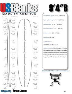 Us Blanks 94b Surfboard Blank How To Build A Longboard