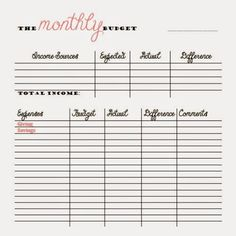 FREE Monthly and Bi-Weekly Budget Printables