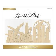 Teresa Collins > Wanderlust > Wanderlust Laser Cut Wood Shapes - Teresa Collins: A Cherry On Top X 2