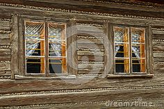 Old wooden windows stock image. Image of village, brown - 69478919 Wooden Windows, Architecture Details, Small Towns, Cabin, Stock Photos, Traditional, House Styles, Brown, Image