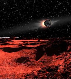 As the Earth eclipses the Sun, our high wilderness of the lunar landscape is bathed in reddened light. This Will Help You Grasp the Sizes of Things in the Universe Scale Of The Universe, Science And Technology News, Space Fantasy, Alien Planet, Visual Aids, Amazing Pics, Awesome, Math Concepts, Our Solar System