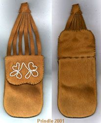 Reproduction of a Potawatomi Puzzle Pouch tutorial. Good gift for Rendezvous.