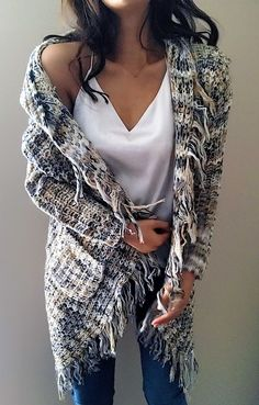 $51.99! Chicnico Fashion Tassels Knit Hoodie Long Sleeve Cardigan all fashion trend shop online store travel causal outifit
