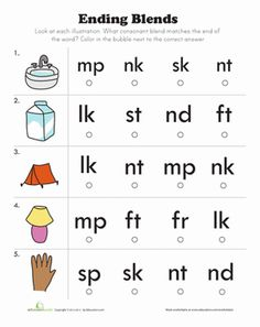Printables Beginning Blends Worksheets beginning consonant blends an adjective the bubble and sight lets practice identifying at end kids will sound out each word blend worksheetsblends