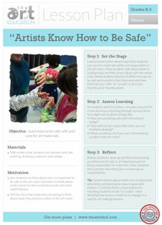 Artists Know How to Be Safe: Free Lesson Plan Download
