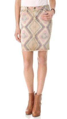 Current/Elliott printed denim skirt.  this is EVERYTHING.