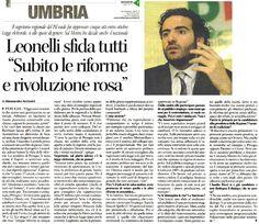 <p>L'intervista rilasciata dal Segretario regionale del Partito Democratico dell'Umbria, Giacomo Leonelli, ad Alessandro Antonini e pubblicata dal Corriere dell'Umbria di oggi.</p>