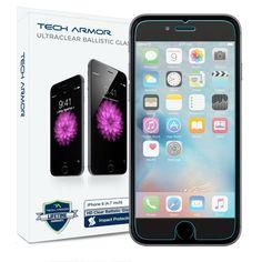 Amazon.com: iPhone 6 Plus Glass Screen Protector, Tech Armor Premium Ballistic Glass Apple iPhone 6S Plus / iPhone 6 Plus (5.5-inch) Screen Protectors [2]: Cell Phones & Accessories