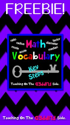 MATH VOCABULARY: Freebie! Key math vocabulary words, cards, and posters to assist your students with key terms. #math #vocabulary #homeschool #mathvocabulary #perimeter #median #mean #circumference