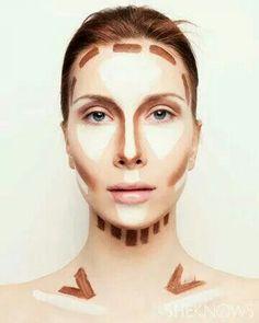 Como contornear el rostro...largo.