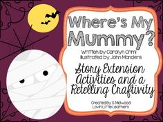 "This product has various extension activities for a Halloween favorite book: ""Where's My Character description printable for Little Baby Spooky Setting: Draw the Spooky Setting of the ""Where's my Mummy? Halloween Math, Halloween Activities, Halloween Themes, Reading Activities, Literacy Activities, Activities For Kids, Speech And Language, Language Arts, Little Learners"