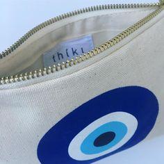 Evil eye cotton canvas purse