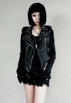 Maybe a bit too goth/punk but you know... Replace jacket with old army shirt. :) Xx