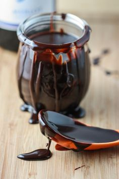 Merlot Hot Fudge Sauce.... For real... Chocolate + Wine to serve over Ice Cream... Does it get any better?!?! I think not...