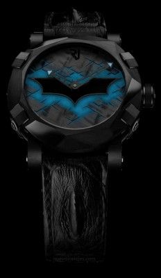 Romain Jerome pays tribute to Gotham City's Super Hero with a timepiece inspired by the Dark Knight: the Batman-DNA. Amazing Watches, Cool Watches, Watches For Men, Wrist Watches, Dream Watches, Luxury Watches, Romain Jerome, Limited Edition Watches, Anniversary Jewelry