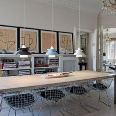 Doo-Wop i sort, lysblå og hvid - lamper / pendeler i spisestue, Louis Poulsen