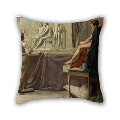 18 X 18 Inches  45 By 45 Cm Oil Painting Tom Roberts  The Sculptors Studio Pillow Covers two Sides Ornament And Gift To Dining Roompubhome Theatersofaofficeboys *** You can find more details by visiting the image link.