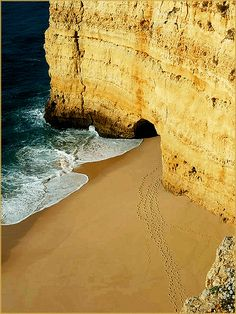 Portugal, Algarve - treaces in the sand by Peter Grahlmann via Flickr