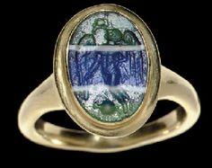 A ROMAN GLASS RING STONE  CIRCA 1ST CENTURY B.C.-1ST CENTURY A.D.
