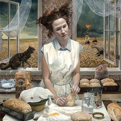 Reflections On Humanity, Andrea kowch, acrylic, 2017 : Art