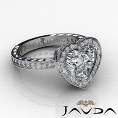 Gorgeous Heart Cut Diamond Engagement Halo Pre Set Ring GIA I VS2 Platinum 2 Ct | eBay