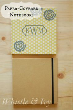 Super Cute Paper Covered-Notebooks Tutorial @WhistleAndIvy
