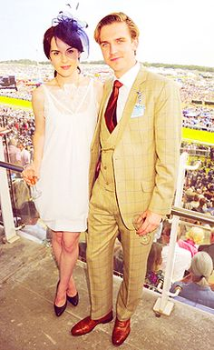 Dan Stevens And Michelle Dockery at Investec Derby Festival (2011)- Love his outfit (and him!); love her hat! ;)