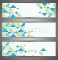 Vector of Colorful vector set web banners Vector > elements in chaotic but fluid arrangement