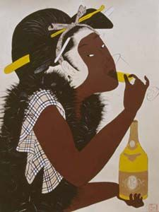 Iona Rozeal Brown's Afro-Japanese fusion collection. African American Artist, American Artists, Black Girl Art, Art Girl, Contemporary African Art, Japanese Culture, Japanese Girl, African Diaspora, Black Artists