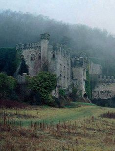 Herminehesse:  Abandoned Welsh castle - oh to be a billionaire and be able to buy and renovate this exquisite place.