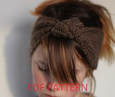 PDF PATTERN.  crochet headband earwarmer