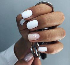 natural summer pink nails design for short square nails page 45 , Gelish Nails, Nude Nails, White Nails, Pink Nails, Acrylic Nails, White Nail Polish, Cute Nail Art Designs, Nail Designs Spring, Hair And Nails