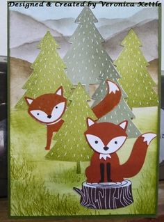 Foxy Friends- Stampin' Up! Foxy Friends Punch, Fox Crafts, Scrapbooking, Scrapbook Cards, Punch Art Cards, Karten Diy, Spellbinders Cards, Stamping Up Cards, Animal Cards